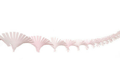White and Light  Pink Crepe Paper Hand Fringed Ceiling Party Decoration Streamer