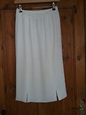 FRANK USHER Womens Cream Straight Skirt Size UK 10 Length 27 inches