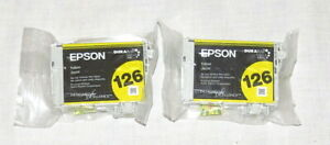 Epson-Printer-Ink-TWO-126-Yellow-OEM-NEW-in-Package
