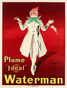 Original-Vintage-Poster-Leonetto-Cappiello-Waterman-Plume-Ideal-1913