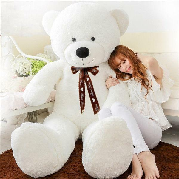 2019 Giant Huge Plush Teddy Bear Stuffed  Soft Toys White Doll Gift 78'' 200cm
