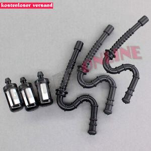 3x-Benzinschlauch-Kraftsoffschlauch-amp-Benzinfilter-fuer-Stihl-MS240-MS260-024-026