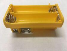 NEW*OEM YELLOW AA BATTERY TRAY RADIO SHACK PRO-651 PRO-106 GRECOM PSR-500 WS1040