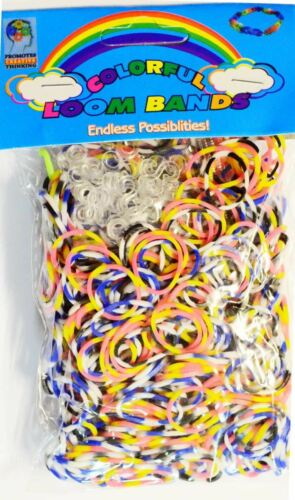 Loom Band Stripe Patterned Loom Band Type 02 Assorted Color loom band