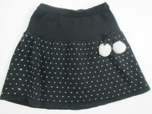 Gymboree NWT Girls Posh and Playful Black White Textured Knit Skirt 5 6 /& 7