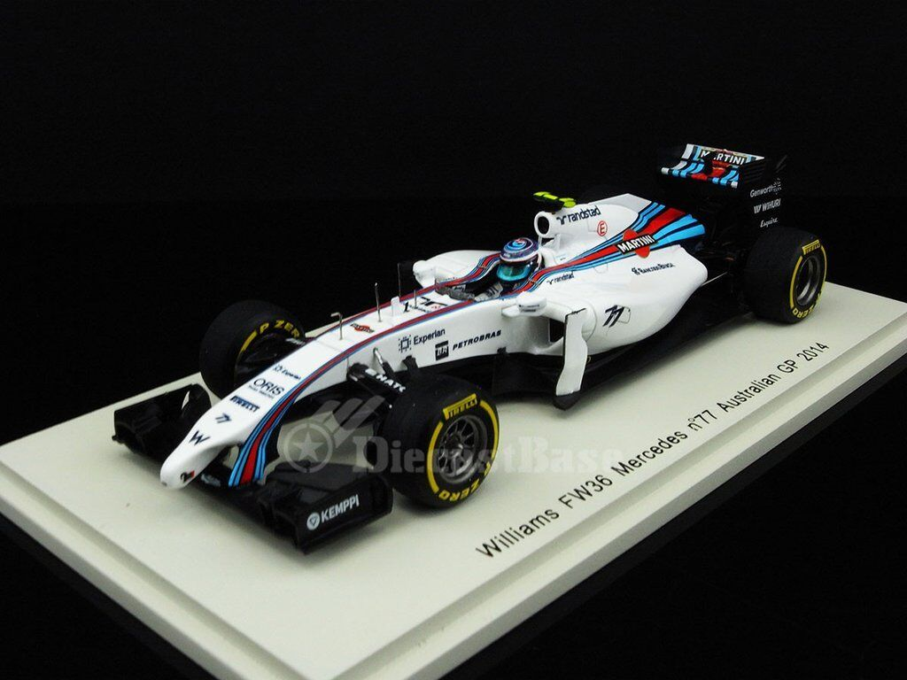 Spark S3080 Williams Martini FW36 77 Australian GP 2018 - Valtteri Bottas 1/43