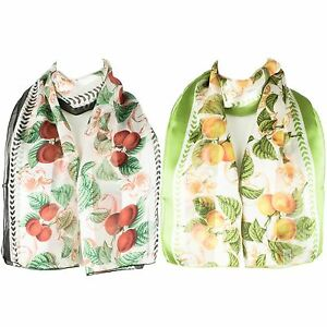 Ladies-Satin-Chiffon-Neck-Scarf-with-Fruit-Print