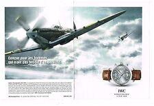 Publicité Advertising 2012 (2 pages) La Montre Spitfire Chronographe IWC