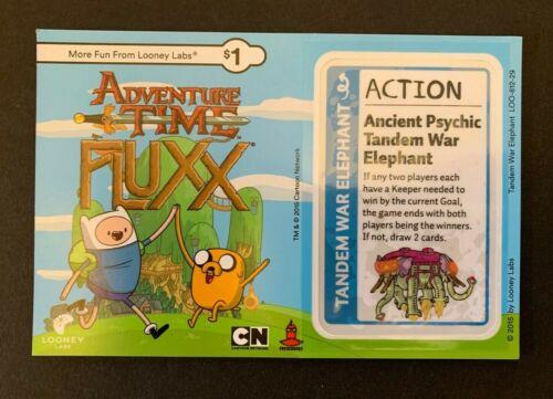 ADVENTURE TIME FLUXX Game Promo Ancient Psychic Tandem War Elephant NEW