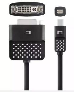 Belkin-Mini-DisplayPort-to-DVI-Adapter-MacBook-to-Projector-Black-F2CD029BT