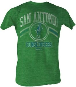 San-Antonio-Gunslingers-USFL-Logo-Men-039-s-Tee-Shirt-Kelly-Heather-Sizes-S-2XL