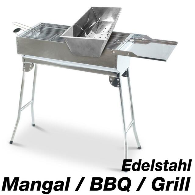 Super Mangal Acier Inoxydable Chachlyk Barbecue Charbon
