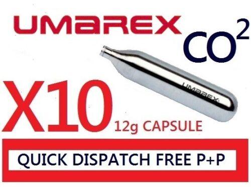 UMAREX co2 x 10 12g di gas Capsula Powerlet Cartuccia D/'ARIA CO2 Capsule-Multibuy