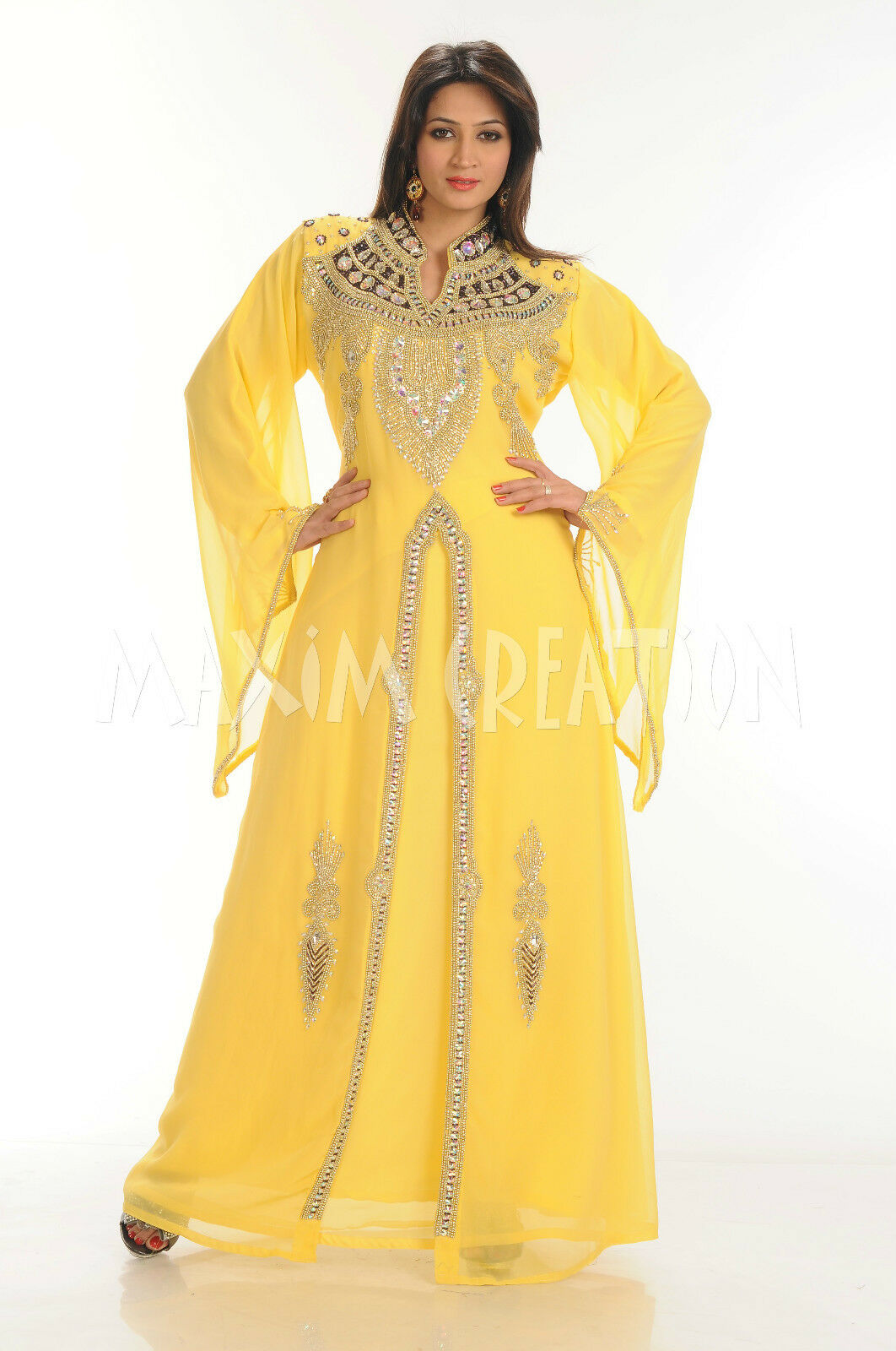 Royal Mgoldccan Caftan Kaftn abaya jalabiya Ladies Maxi Dress Wedding Wedding Wedding gown 3391 ff2b8e