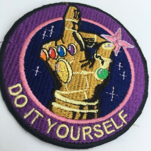 Endgame Infinity War Thanos Infinity Gauntlet Iron On Embroidery Patch