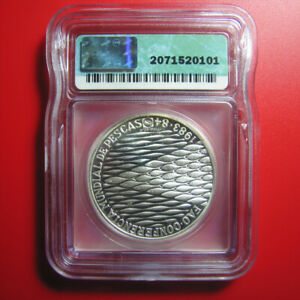 1984-PORTUGAL-250-ESCUDOS-ICG-PR-68-DCAM-SILVER-PROOF-WORLD-FISHERIES-CONFERENCE