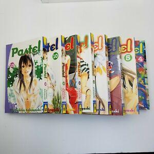 Lot of 8 PASTEL Manga Volumes 4-10,13 DEL REY Toshihiko Kobayashi English Age 16
