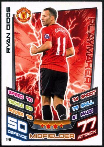 Ryan Giggs Man Utd #141 Topps Match Attax Fútbol 2012-13 tarjeta de comercio C440