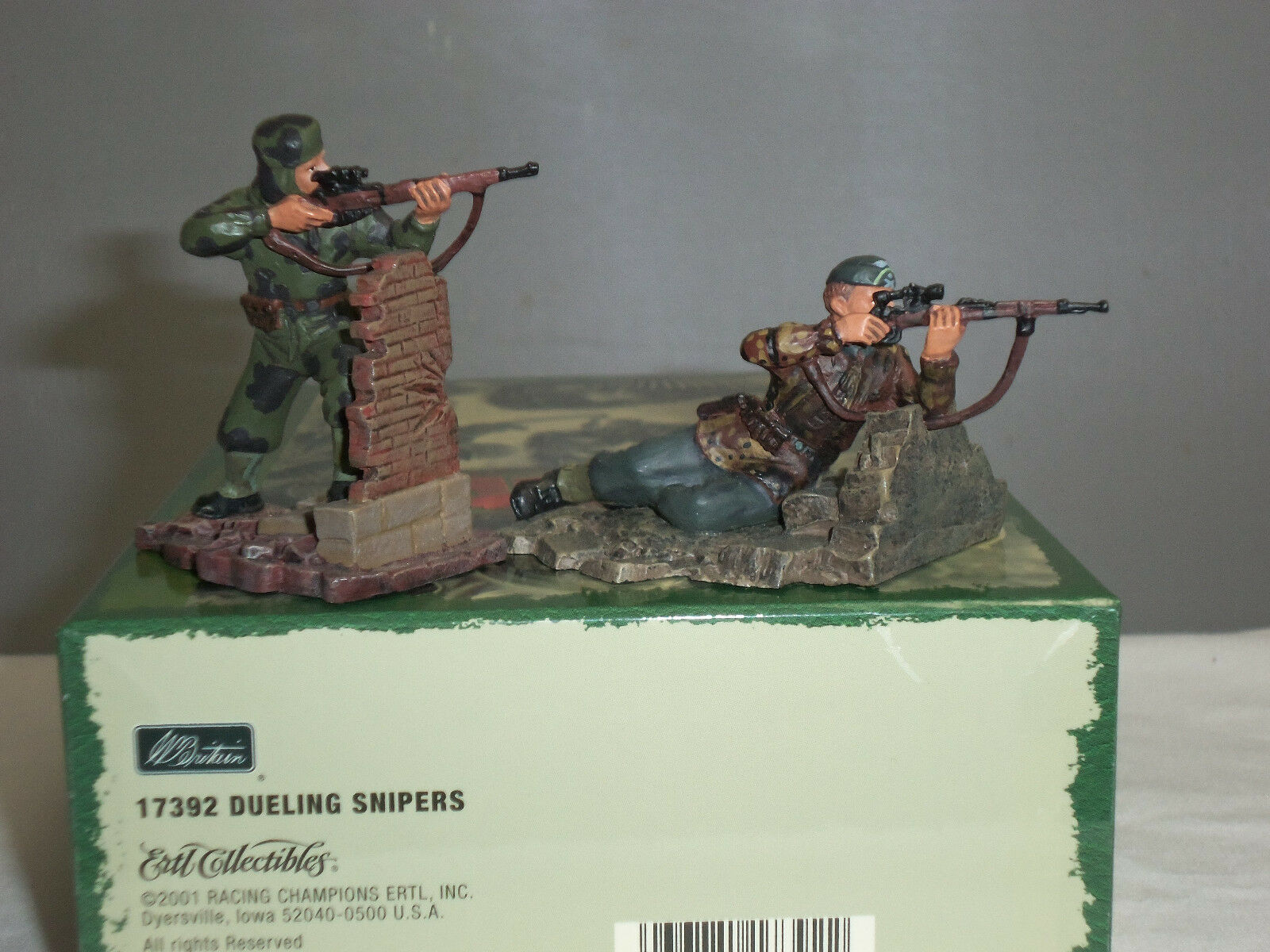 BRITAINS 17392 DUELLING SNIPERS WORLD WAR TWO METAL TOY SOLDIER SOLDIER SOLDIER FIGURE SET e42d12