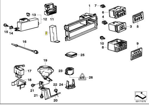 BMW E34 Cruscotto Consolle Centrale Copertura Trim Lh Lhd 1384787 6581 1384787
