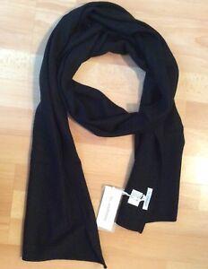 Echarpe NS... Cashmere Cachemire 100% Noir Neuve Authentique   eBay a4e05cc8166