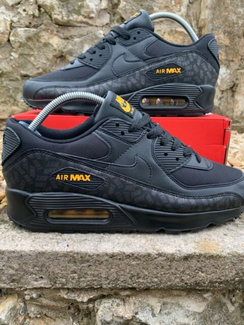 NIKE AIR MAX 90 TRAINERS | BLACK/ YELLOW | ADULTS UK 6 | BRAND NEW IN BOX