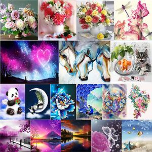 5D-DIY-Full-Drill-Diamond-Painting-Flower-Cross-Stitch-Kit-Crafts-Home-Art-Decor