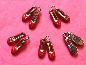 Rojo Rubí Zapatillas/Zapatos encantos-Paquete de 5 OZ-proyectos de temática