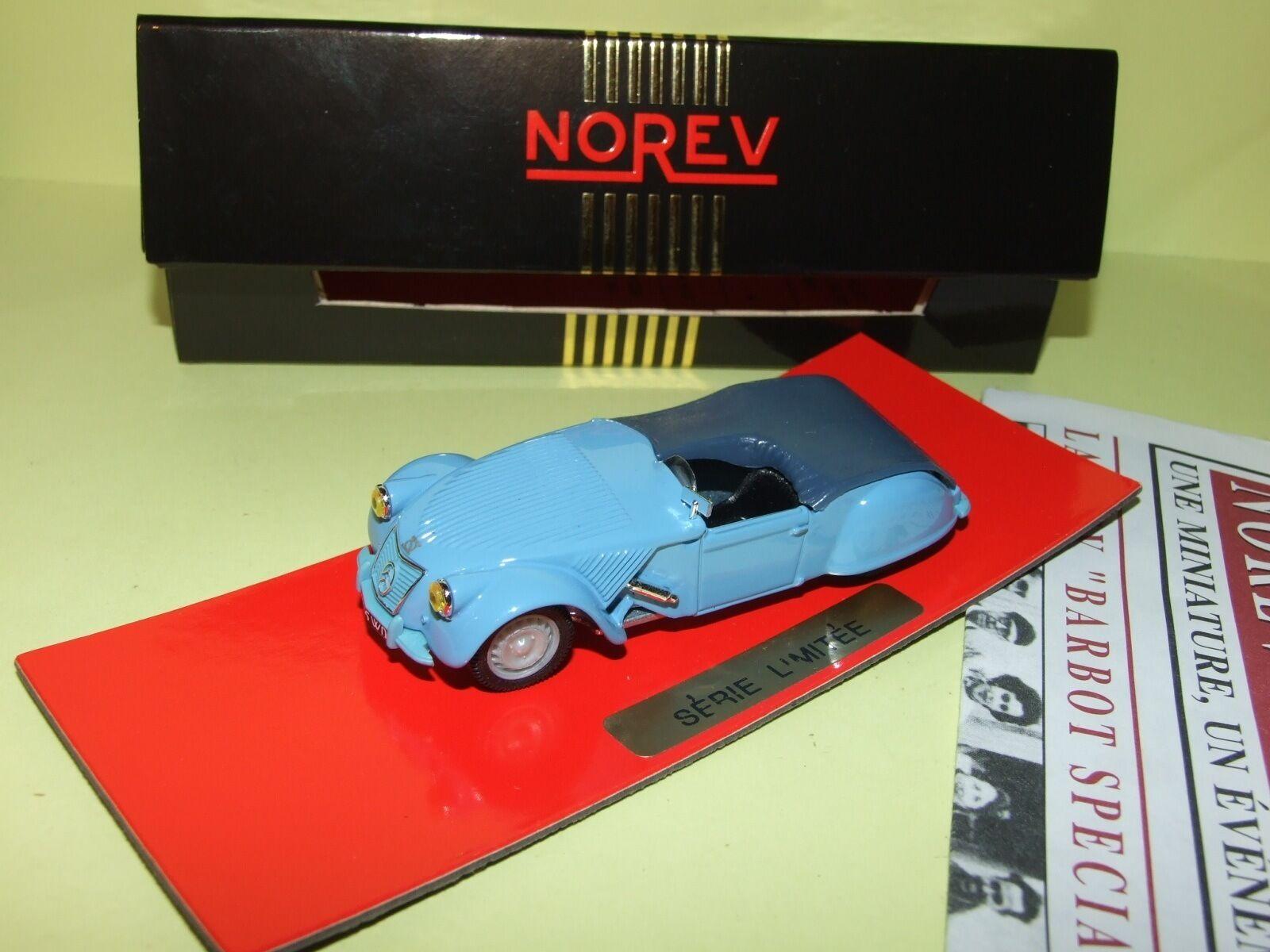 CITROEN 2CV BARBOT SPECIALE 1953 NOREV 1 43 Ligne schwarz
