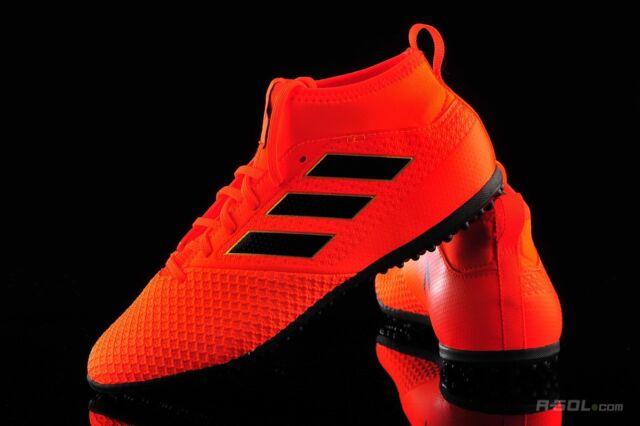 New Adidas JR Ace Tango 17.3 TF Turf Soccer Shoes Sz 4.5 Orange Black Red BY2205
