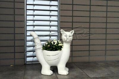 Blumenkübel Pflanz Kübel Dekoration Figur Blumentöpfe Garten Vasen Gefäss 204079 Reine WeißE