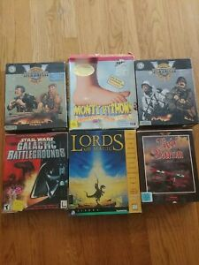 Lot of 6 IBM/DOS/PC Big Box Games with Macintosh V for Victory