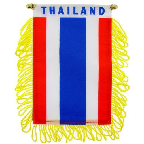 Thailand flag Mini banner rearview mirror window car Home Thailandia pride