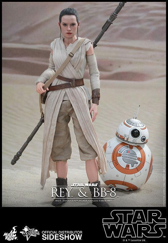 HOT TOYS STAR WARS EPISODIO VII fuerza despierta Rey y BB-8 12 figura de escala 16