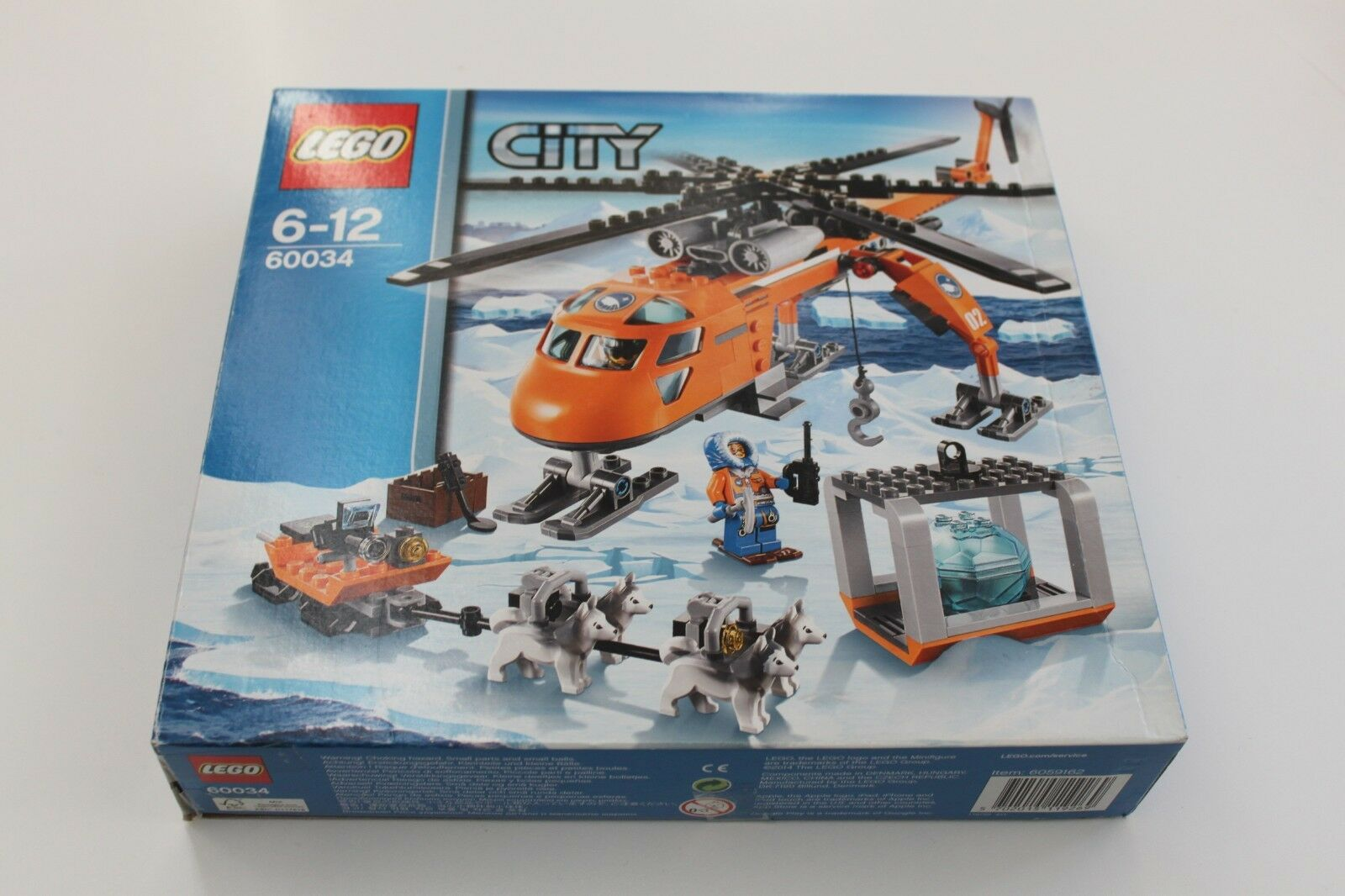 Lego City 60034 Arctic Helicrane (Retired Set From 2104)   100% complete