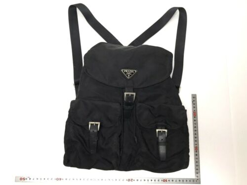 PRADA nylon rucksack backpack black used (4324