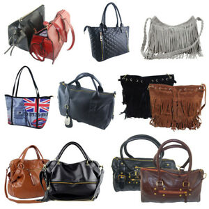 Women Leather Handbag Shoulder Lady Purse Messenger Satchel Crossbody Tote Bag G