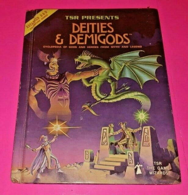 ADVANCED DUNGEONS AND DRAGONS Deities & Demigods 1st Ed TSR 128 pages AD&D 1980