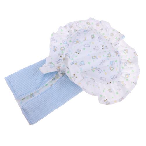 Floral Hat Blanket Underpants Socks Suit For 10-11/'/' Newborn Baby Doll Blue