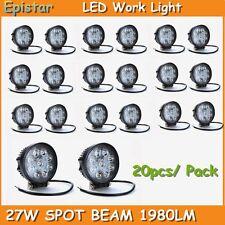 20X 27W LED Work Light Round Spot Beam Off-road Driving Fog Lamp Truck ATV SUV