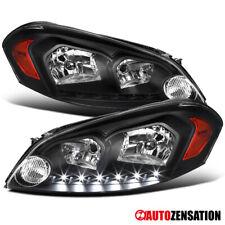 For 2006 2013 Chevy Impala 06 07 Monte Carlo Black Headlights Head Lampssmd Led Fits 2006 Impala