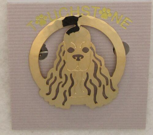 Cocker Spaniel Jewelry Gold Locking Back Pin
