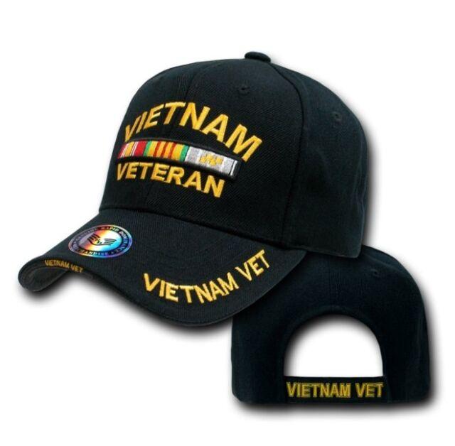 e3f89941b91be Black Vietnam War Veteran United States Military Vet US Baseball Ball Cap  Hat