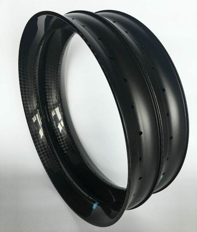 Triangle full Carbon snow Fat Bike Rim 90mm Double Wall Tubeless Compatible 26