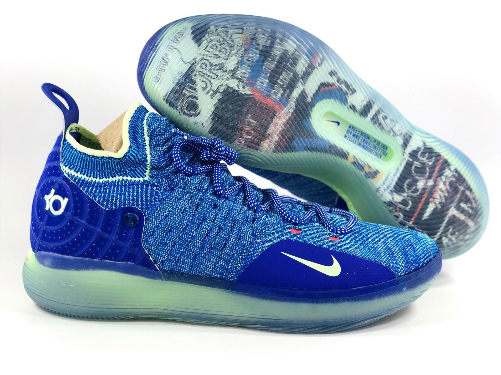 newest 6a889 296f1 ... 50% off nike zoom kd mens 11 paranoid multicolor blue green yellow  ao2604 900 mens