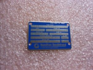 Details about HAMILTON SUNDSTRAND (2 PCS) PLATE IDENTIFICATION 732179-2  NSN: 9905-01-096-4575
