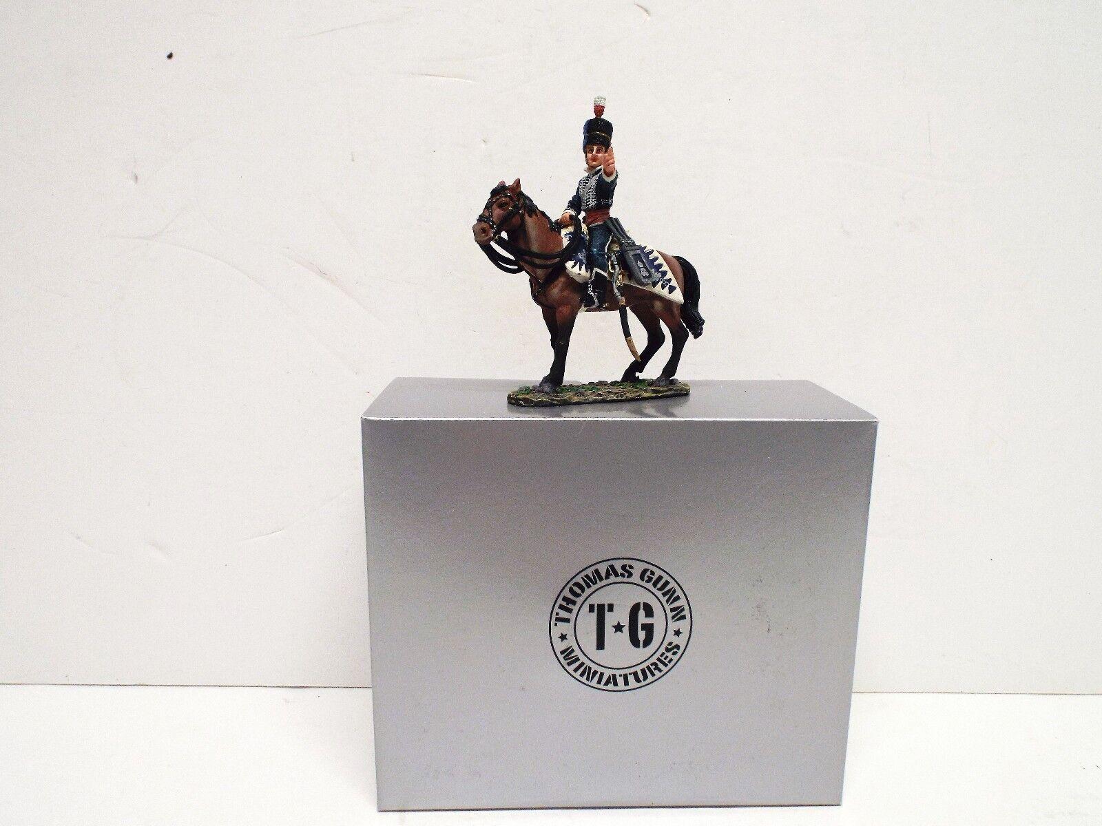 THOMAS GUNN NAP027B BRITISH NAPOLEONIC 18TH HUSSAR POINTING MOUNTED MIB (BS2382)