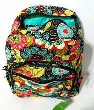 VERA BRADLEY Disney Backpack Bookbag Mickey Mouse Perfect Petals Pink Orange