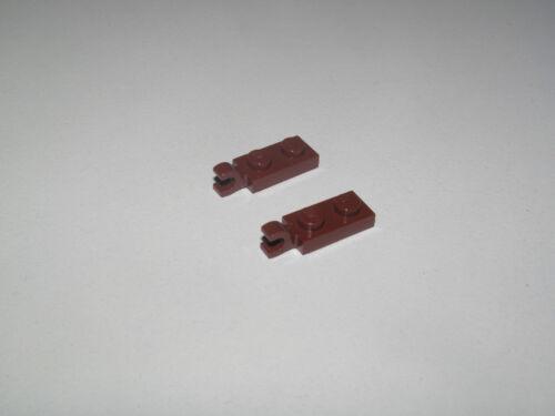 Lego ® Lot Plaque Pince 1x2 Tile Plate Clip Horizontal Choose Color ref 63868