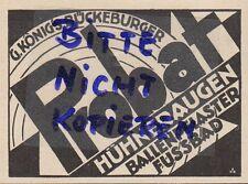 BÜCKEBURG, Werbung 1929, G. König's Probat Hühneraugen-Ballen-Pflaster Fuss-Bad